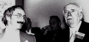 Winfried B. Lerg (links) und Fritz Eberhard. Im Hintergrund: Alexander von Hoffmann (Foto: Hans Jürgen Bolle)
