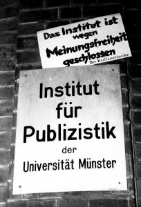 Reaktion der Studenten auf Hagemanns Suspendierung (Quelle: Privatarchiv Horst Hagemann)