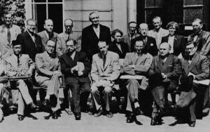 Teilnehmer der Internationalen Publizistiktagung 1953 in Amsterdam (Quelle: Anschlag 1990)