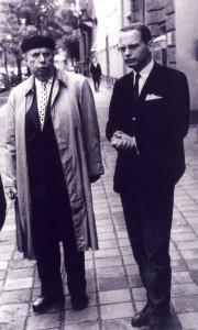 Fritz Eberhard (links, neben Dirk Sager), in den 1960er-Jahren Leiter des Berliner Instituts für Publizistik (Foto: Privatarchiv Hans Bohrmann)
