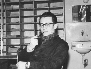 Günter Kieslich am Institut für Publizistik in Münster (Quelle: Privatarchiv Georg Hellack)