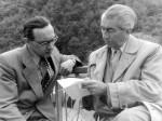 Professor Hanns Braun (rechts) zusammen mit dem Assistenten Heinz Starkulla (Quelle: Privatarchiv Heinz Starkulla junior)
