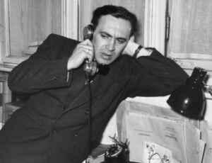 Assistent Starkulla bei der Arbeit 1953 (Quelle: Privatarchiv Heinz Starkulla junior)