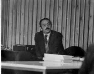Winfried B. Lerg auf der DGPuK-Jahrestagung 1975 in Göttingen (Foto: Raimund Kommer)