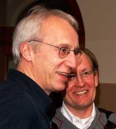 Markus Behmer (im Vordergrund) mit Jeffrey Wimmer (Foto: Michael Meyen)