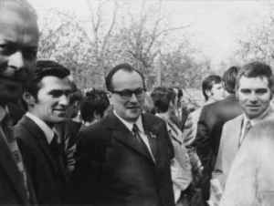 Ausflug mit Kollegen am 1. Mai 1972. Von links: Wolfgang Böttger, Jochen Schlevoigt, Werner Michaelis, Willy Walther (Quelle: Privatarchiv Werner Michaelis).