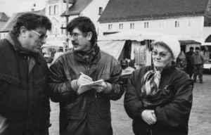 Der Journalist Wulf Skaun Anfang der 1990er-Jahre in Wurzen (Foto: Peter Kayenberg, Quelle: Privatarchiv Wulf Skaun)