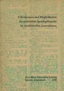 Lehrheft für die Leipziger Studenten. Leiter des Autorenkollektivs: Wolfgang Böttger.