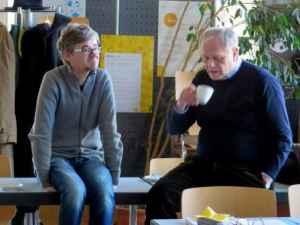 Kaffeepause: Erik Koenen und Arnulf Kutsch (Foto: Markus Thieroff)
